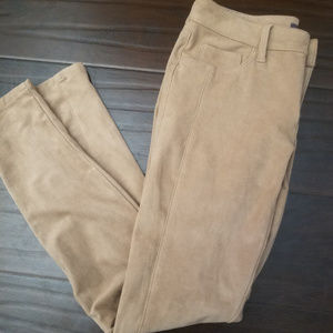 Guess Tan Faux Suede Skinny Pants